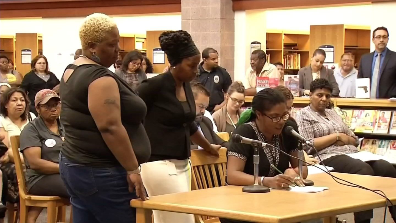 Hartford parents argued last week that closures would devastate their communities. (WFSB photo)