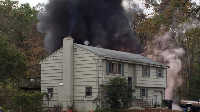 Firefighters responded to a fire in East Windsor on Thursday morning. (East Windsor Police)