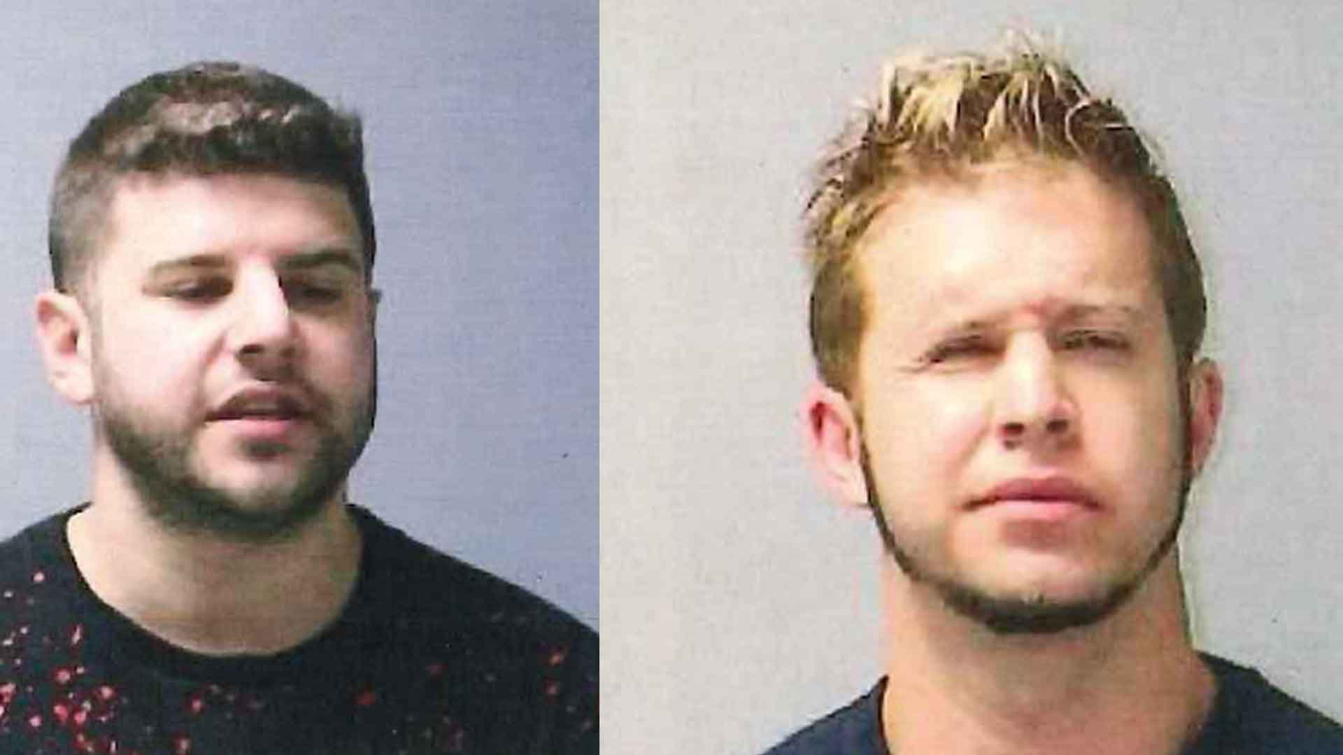 Nicholas and Anthony Diorio were arrested for for shouting ethnic slurs and vulgarity towards a family at Bradley International Airport early Thursday morning.