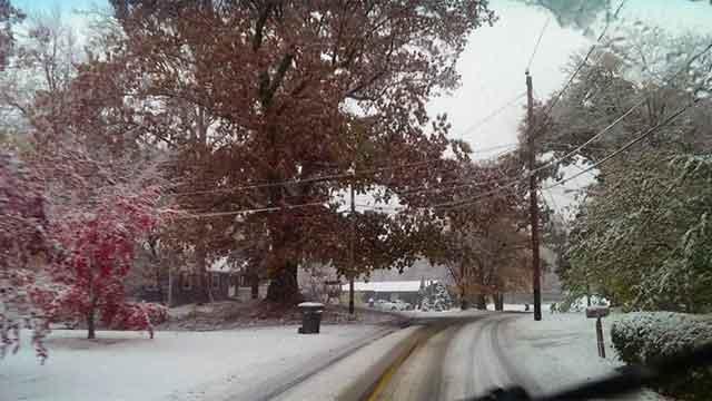 Slick roads reported in Granby. (?Jeff Lepkowicz?)