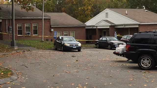 A woman's body was found in a wooded area in Enfield on Friday.   (WFSB)