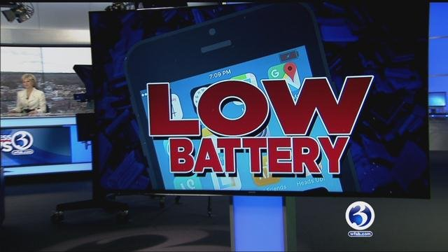 Low battery anxiety is caused when a phone is about to die from low battery. (WFSB)