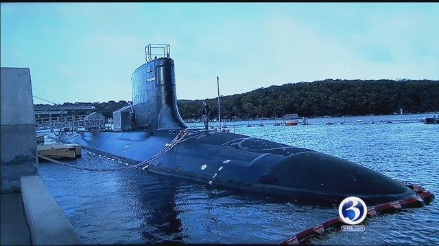 First Lady Michelle Obama will christen the U.S.S. Illinois during a morning ceremony. (WFSB)