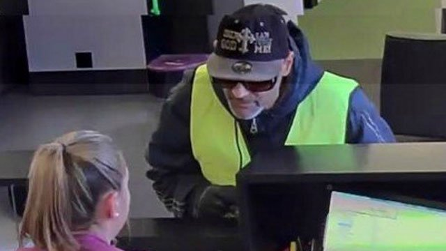 Suspect wanted in connection with TD Bank robbery in Meriden.  (Meriden Police Dept. Facebook)
