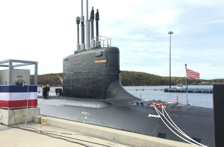 USS Illinois which was commissioned Saturday. (WFSB)
