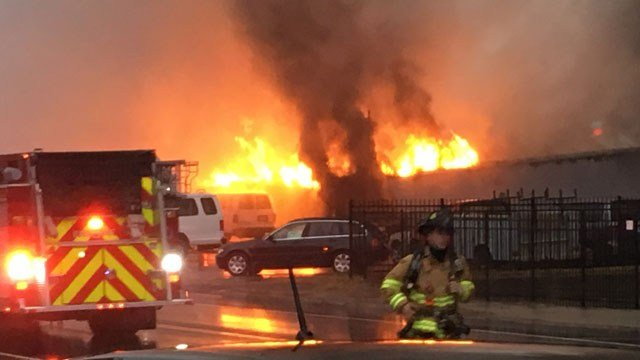 A fire broke out at an auto service business in Norwich on Sunday (WFSB)