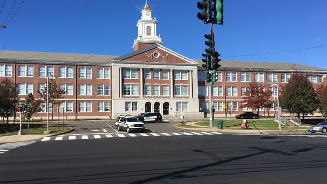 Hamden High School dismissedearly Monday following a threat. (WFSB)