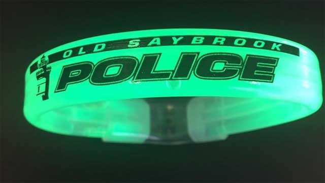 Old Saybrook police will have extra bracelets on hand Monday night (Old Saybrook Police)