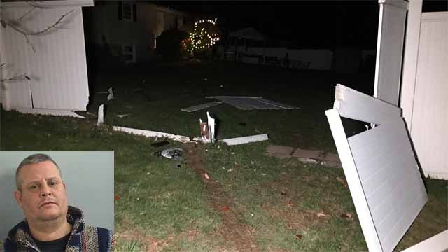 Police arrested Colin Kenniston Monday night after he crashed into a Halloween party (WFSB/Plainville PD)