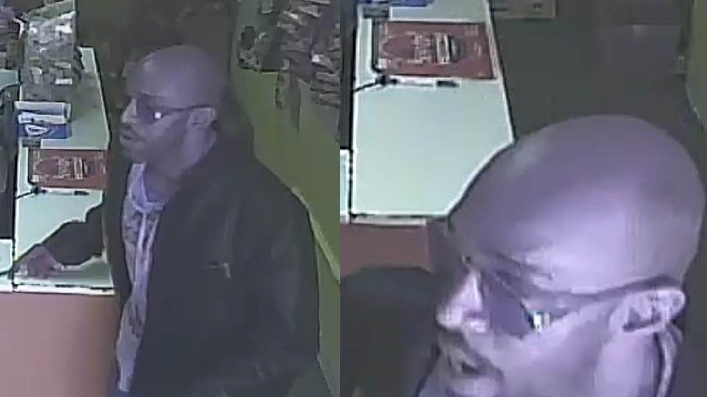 Police said this man robbed the Agencia P & B in West Haven on Oct. 4. (West Haven police photos)