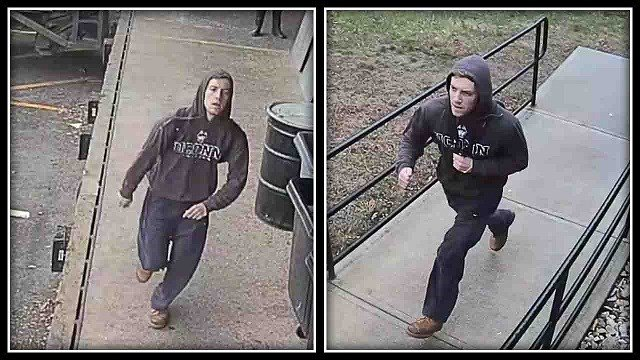 UConn police have released photos of the alleged suspect (UConn police)