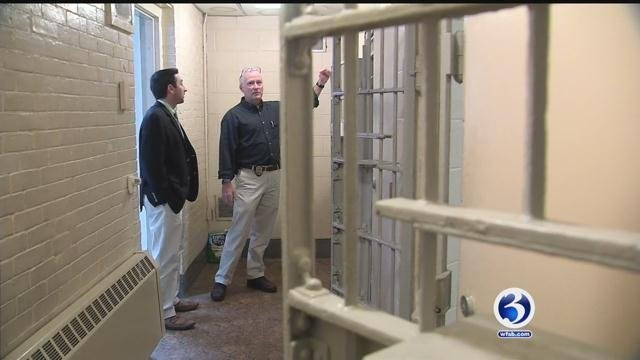 Channel 3's Matt McFarland got a look inside the old Ansonia police station, which the police chief said is an outdated building. (WFSB)