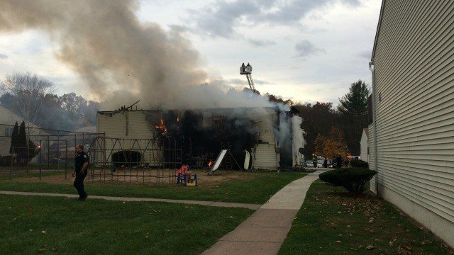 A fire broke out at a housing complex in South Windsor Saturday. (WFSB)