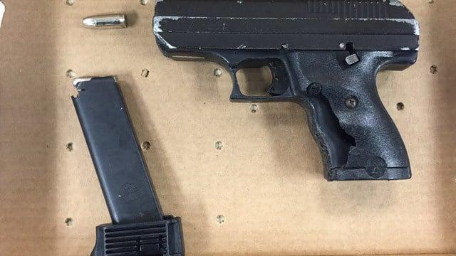 The Hi-Point 9mm handgun Lewis had on him, according to police. (Hartford police)