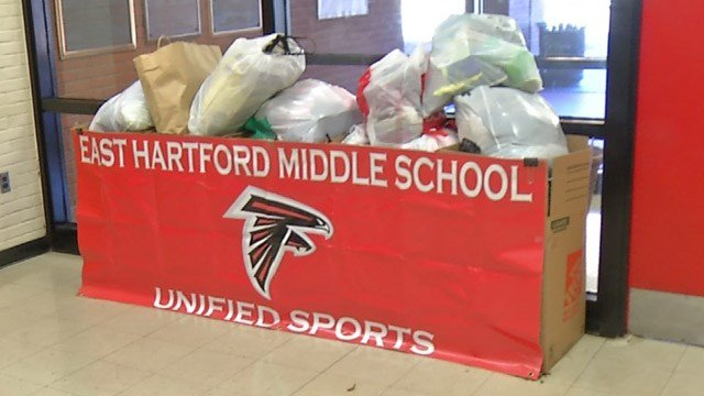 The Unified Sports program at East Hartford Middle School will be holding a clothing drive on Tuesday. (WFSB photo)