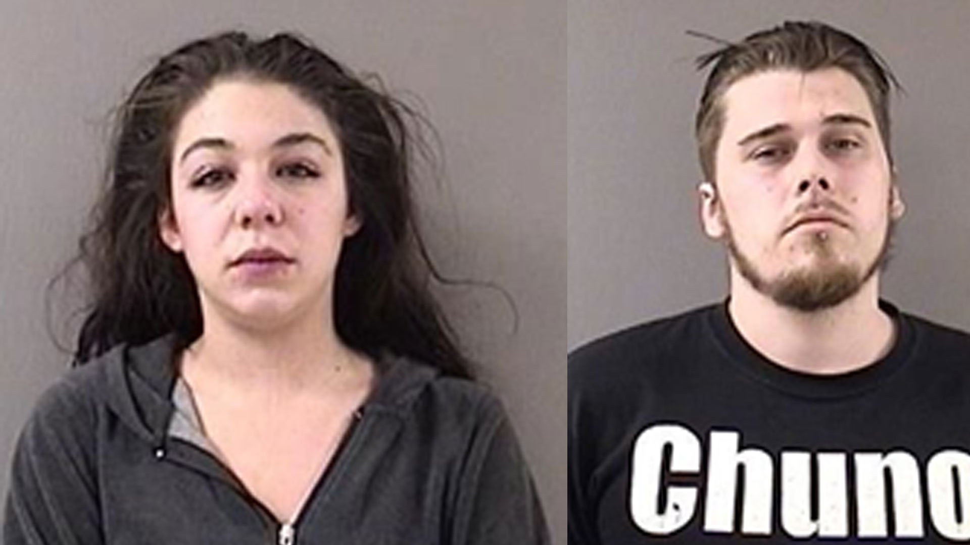 """Jacqueline Gambardella and Nathanael May were arrested after police said they were """"making daily trips to Hartford to purchase the heroin and returning to Wallingford to resell it."""" (Wallingford Police Department)"""