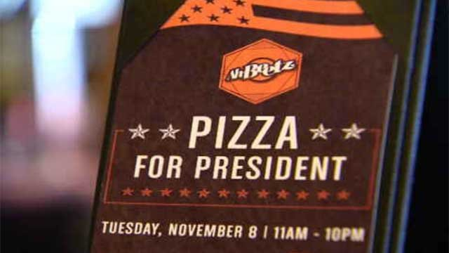 A pizza shop in New Haven was giving out free pizza on Election Day (WFSB)