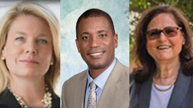 Republicans Heather Somers, George Logan, Elaine Hammers are potential victors in their districts. (Somers, Logan, Hammers campaign photos)
