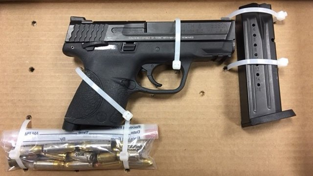 A Smith & Wesson 9 mm handgun was recovered at the scene of a Hartford apartment shooting Tuesday night. (Hartford police photo)
