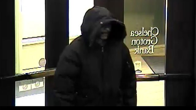 Police are searching for this man wanted in connection with a bank robbery. (New London Police Department)