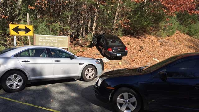 Police responded to this scene in Thompson. (WFSB photo)