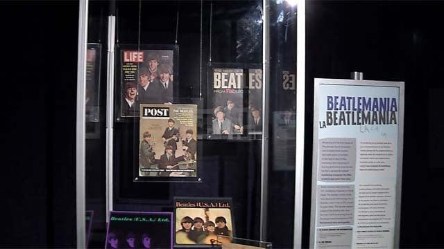 A Beatles exhibit has opened at Foxwoods Resort Casino. (WFSB)