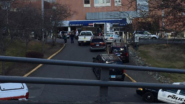 """Chemical contamination incident"" reported at the Waterbury Hospital on Friday morning. (WFSB)"