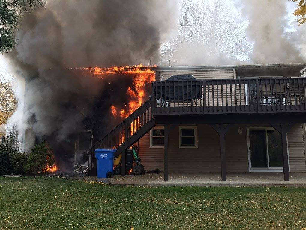 Firefighters responded to a house fire on Choate Avenue Saturday (Hamden Fire)