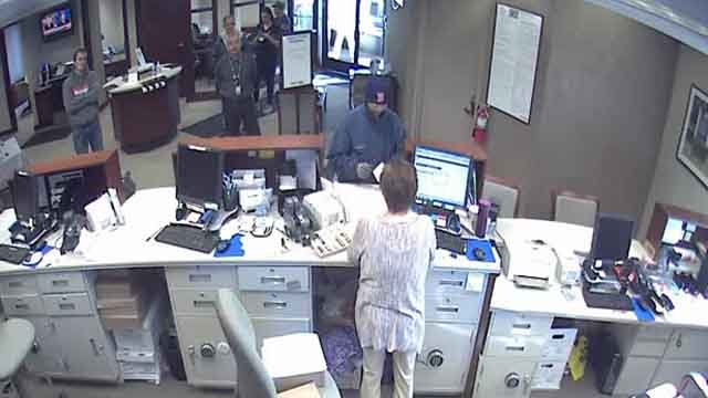 This was the scene at the People's Bank (Enfield Police)
