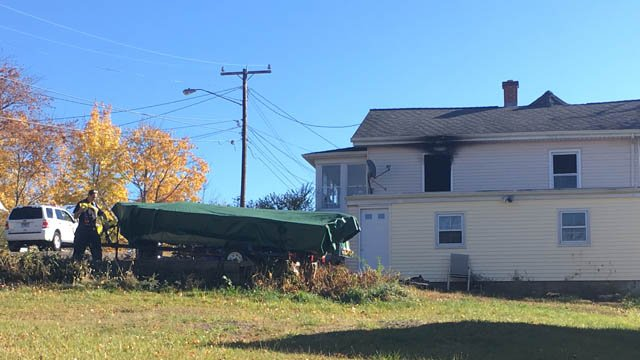 Investigators are looking into the cause of the fire on Davis Street in Meriden. (WFSB photo)
