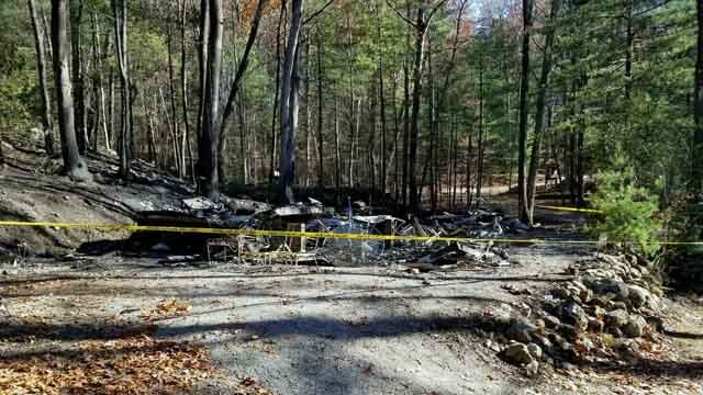 Not much is left after a fire ripped through the Sun Valley Campground on Sunday night  (WFSB)