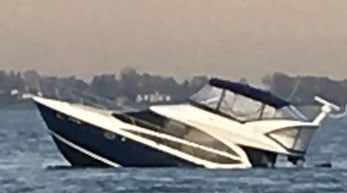 Fire crews rescued 12 people from a boat taking on water in Long Island Sound. (Stamford Fire Department)