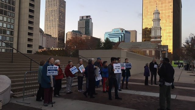 Group protests MDC to protect drinking water (WFSB)