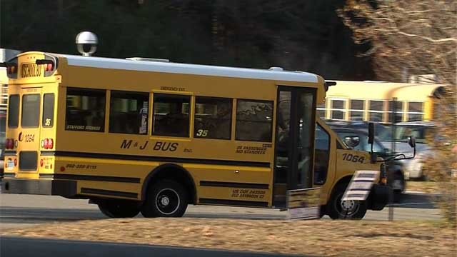 An investigation is underway after a bus driver left a child on a bus alone for more than an hour (WFSB)