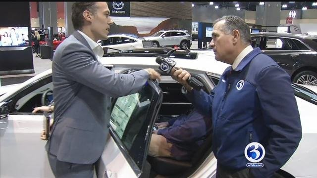 WFSB Anchor Kevin Hogan checks out Connecticut International Auto Show. (WFSB)