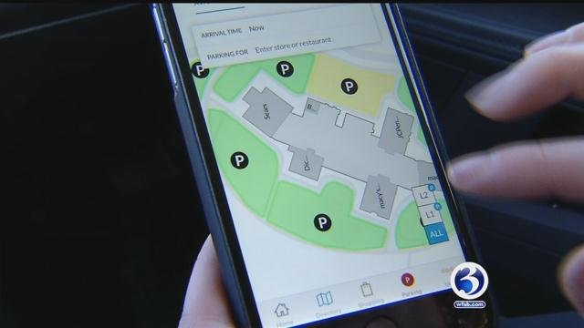 A new application is helping shoppers in Connecticut find parking this holiday season. (WFSB)