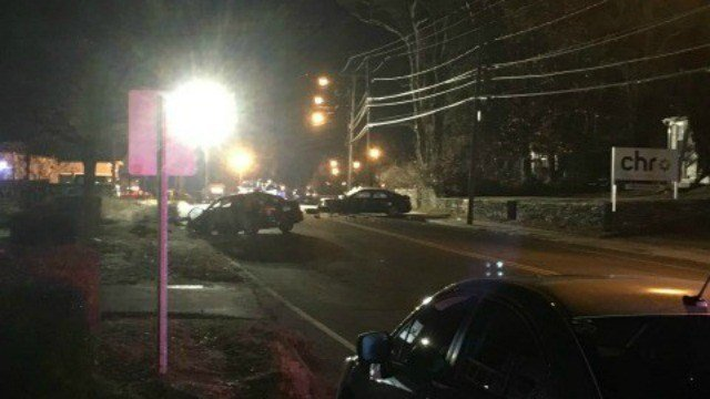 A stretch of Route 32 in Willimantic will remain closed for several hours after this serious crash.  (WFSB)