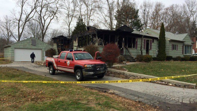 Old Saybrook officials responded to a home on fire early Sunday morning, (WFSB)