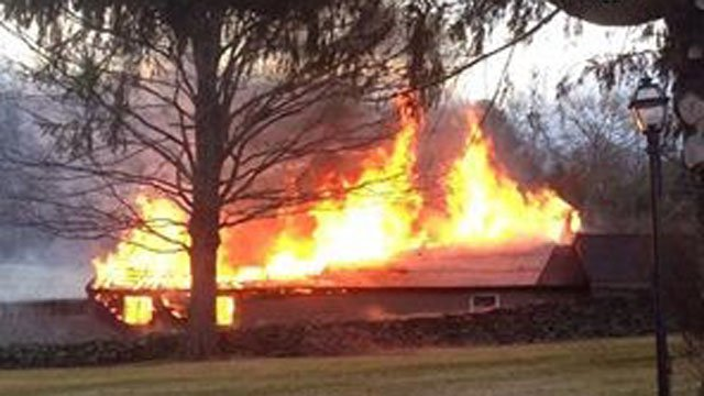 Firefighters reported a fire on River Road. (Quinebaug Valley Emergency Communications photo)