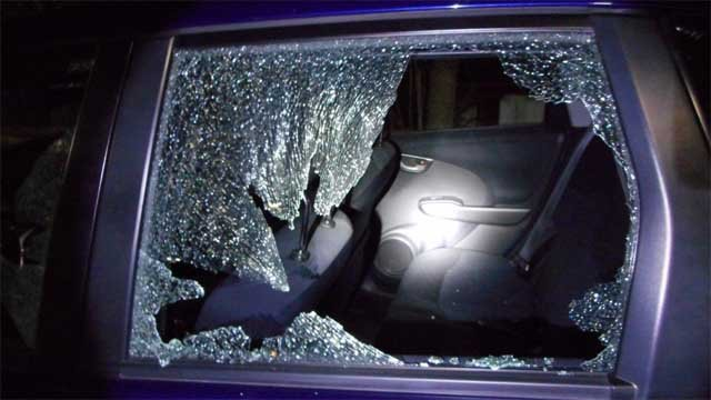Some cars were vandalized by BB guns over the weekend (Submitted)