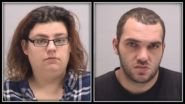 Officers arrested 27-year-old Rory Clark, of West Haven, and 28-year-old Kimberly Onorato, of Bristol. (Orange police)
