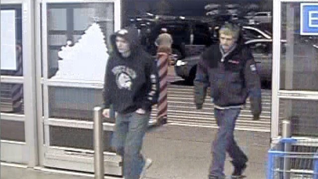 Waterford and Old Saybrook police said these two men may be involved in vandalism in town (Waterford police)