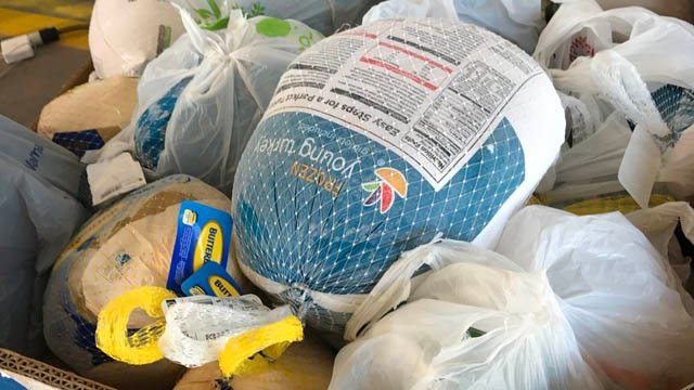 Foodshare said it was about 900 turkeys shy of its goal as of Monday night. (Foodshare photo)