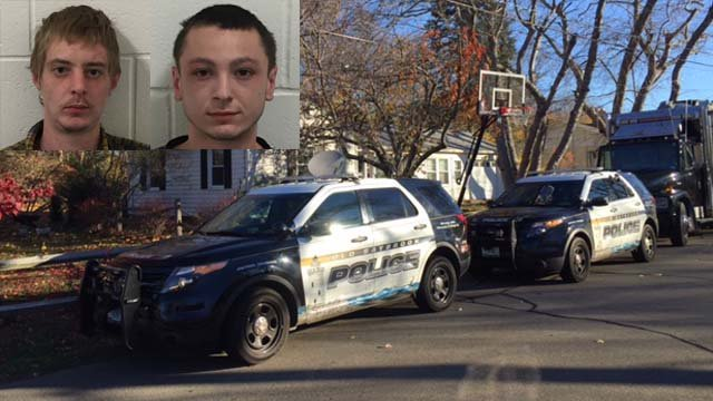 Garrett Bush and Maxwell Bravi were arrested after Old Saybrook police executed a search warrant on Farview Avenue. (Old Saybrook police/WFSB photos)