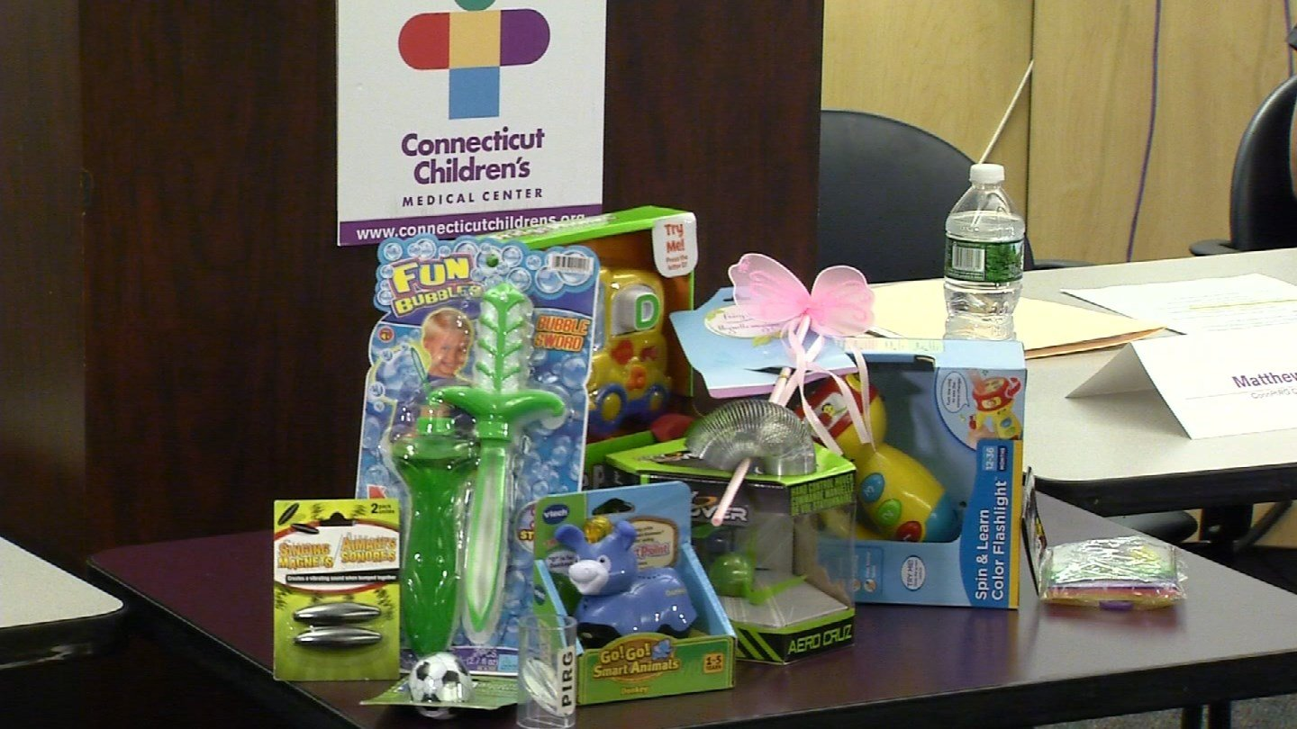 Sen. Richard Blumenthal,  ConnPIRG, which is a public interest research group, and doctors discussedthe 31th annual Trouble in Toyland report. (WFSB file photo)