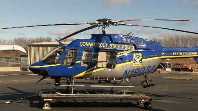 Police will be patrolling the roads this holiday season from the sky as well as the ground (WFSB)