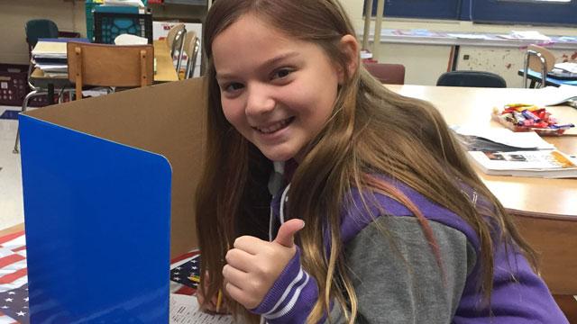 "Jessica Brocksom has been chosen as Connecticut's ""kid governor."" (Chris Zaccaro)"