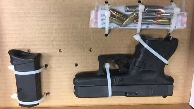 The firearm believed to have been used in the shooting was reportedly stolen out of Glastonbury. (Hartford police photo)