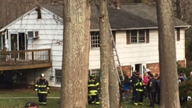 The house fire was reported on Old Barry Road in Waterford on Thursday morning. (WFSB)