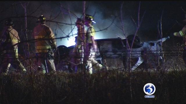 Crash closes southbound side of Route 9 in Berlin on Thursday night. (WFSB)